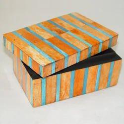 Royal Artisans Rectangle Decorative Jewelry Box