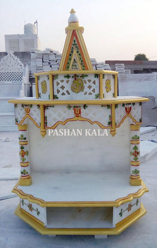 Decorative Marble Temple Marble Temple Mantola Agra Pashan