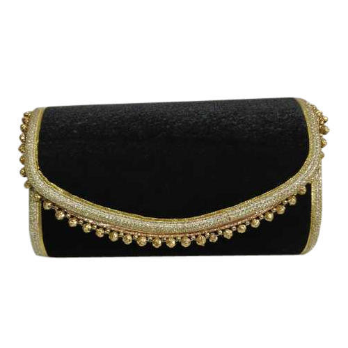 d2cdaf293d77e Plain Black Velvet Ladies Clutch Purse, Rs 160 /piece, Gangwal ...