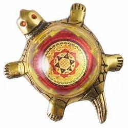 Eshoppee Shri Shree Kuber Yantra On Metal Tortoise