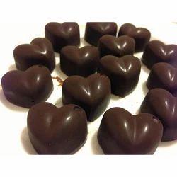 Heart Shaped Home Made Chocolate
