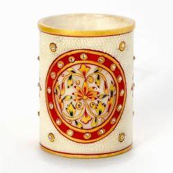 Hand Painted Minakari Marble Stand 379