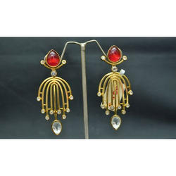 Party Ladies Drop Down Stone Artificial Earring