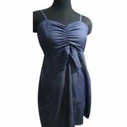 Sleeveless Ladies Denim Dress
