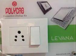 Polycab Levana Switch, Socket & Regulator, Switch Operation: ON/OFF