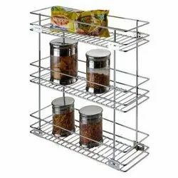 10x12x21 Inch Stainless Steel Triple Pull Out Basket