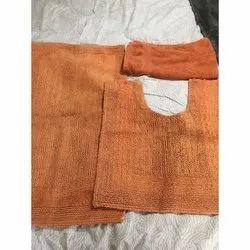Orange Plain Cotton Massage Towel