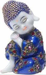 iHandikart Multicolor Meditating Buddha, Size/Dimension: 8 Inch, Packaging Type: Box Packing