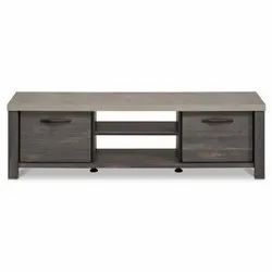 Grey Wooden TV Table, for Home, Hotel, Warranty: 3 Years