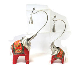 Standing Antqui Elephant Set Of 2 Vintage Elephant