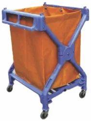 Plastic X-Shape Laundry Cart