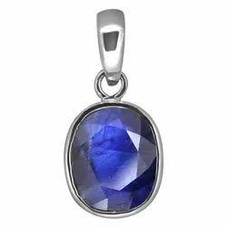 Neelam Pendant Men and Women Silver Gemstone