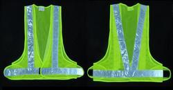 Reflective  Vizwear Vest / Jacket 2 Green 3 Side Opening Mesh Fabric (v-40)