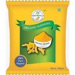 Deshwal Organic Turmeric Powder, Packaging Size: 100g