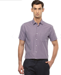 Maroon Peter England Shirt