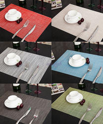 Square Plastic Restaurant Table Mat, Size: Standard