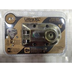 Brass Silver Godrej Ultra XL Plus Vertibolt 2C Door Lock