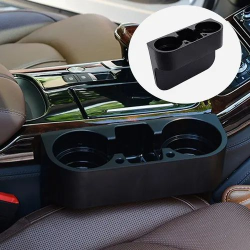Vehicle Auto Durable and Useful Fliyeong Car Drink Cup Holder Multifunctional Double Hole Car Seat Side Drink Holders Drink Bottle Holder Phone Holder Stand for Truck