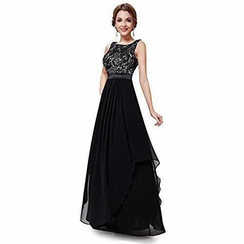 2992220e2e7 Sleeveless Cotton Ladies Evening Gowns
