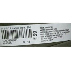 Bar Code Labels 1D