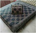 Hand Block Bagru Print Double Bed Sheet 100x100