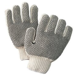 PVC Dotted Woolen Gloves