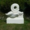 Outdoor White Marble Garden Article, Size: 18 X 24 Inch