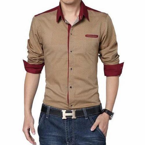 243bb4db1dfa Cotton Mens Brown Party Wear Shirt, Rs 750 /piece, Shri Laxmipati ...