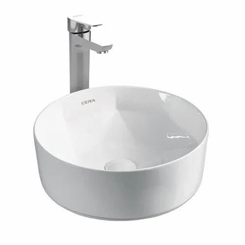 Ceramic White Cera Canisa Wash Basin, for Bathroom