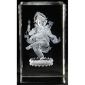 3D Ganesha Crystal Cube