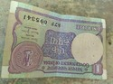 1 Rupee Old Indian Notes