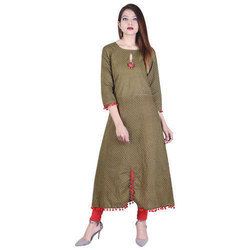 Cotton Printed Kurtis In Long Sizes