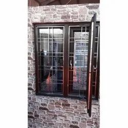 PVC Casement Window With Grill