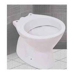 White Floor Mounted Sanitary Concealed S Type