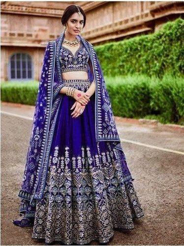 bd9a80c6a3 Bridal Malbari Silk Embroidered Lehenga Choli, Rs 4850 /piece | ID ...