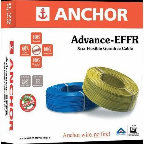 Conductor Type Unarmoured Copper Anchor House Wires Cables 11kv Wire Size 0 75 Sq Mm 16 Sq Mm Rs 634 Piece Id 20856036888