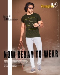 Mens Classical Trouser And Half Sleeve T Shirt