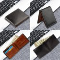 RFID Blocking Bifold Genuine Leather Wallets for Men Full Grain Leather