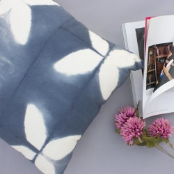Tie Dye Indigo Boho Cotton Cushion Cover