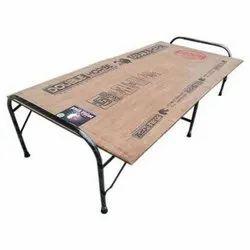 Black Steel Folding Cot