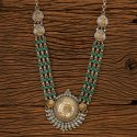 Blue Indo Western Two Tone Trendy Necklace 100186