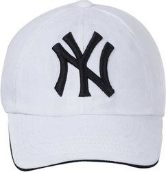 NY White Baseball Cap