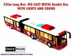 Kids Die Cast Metal Double Bus Toy