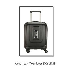American Tourister Black Skyline Trolley Bag, For Travelling