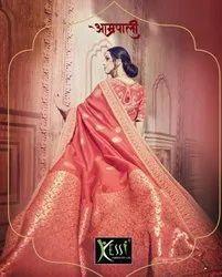 Kessi Aamrpali Heavy Banarasi Silk Saree Catalog Collection