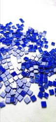 Natural Lapis Lazuli Flat Square Smooth Slab Loose Gemstone Cabochon Beads