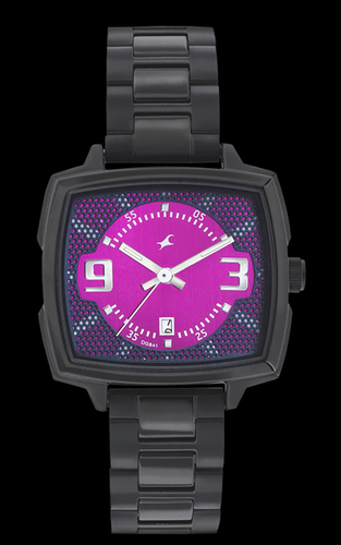 d3a59fd92 Fastrack Girls Stainless Steel Analog Pink Watch - Uttam Times And ...