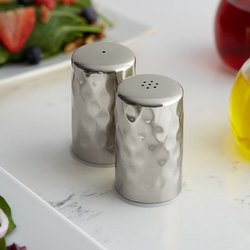 Stainless Steel Hammered Salt and Pepper Shaker