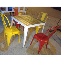 Tolix Table Chair Set