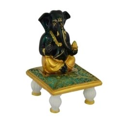 Black and Gold Marble Decorative Lord Idols Status, Packaging Type: Carton, for Interior Decor